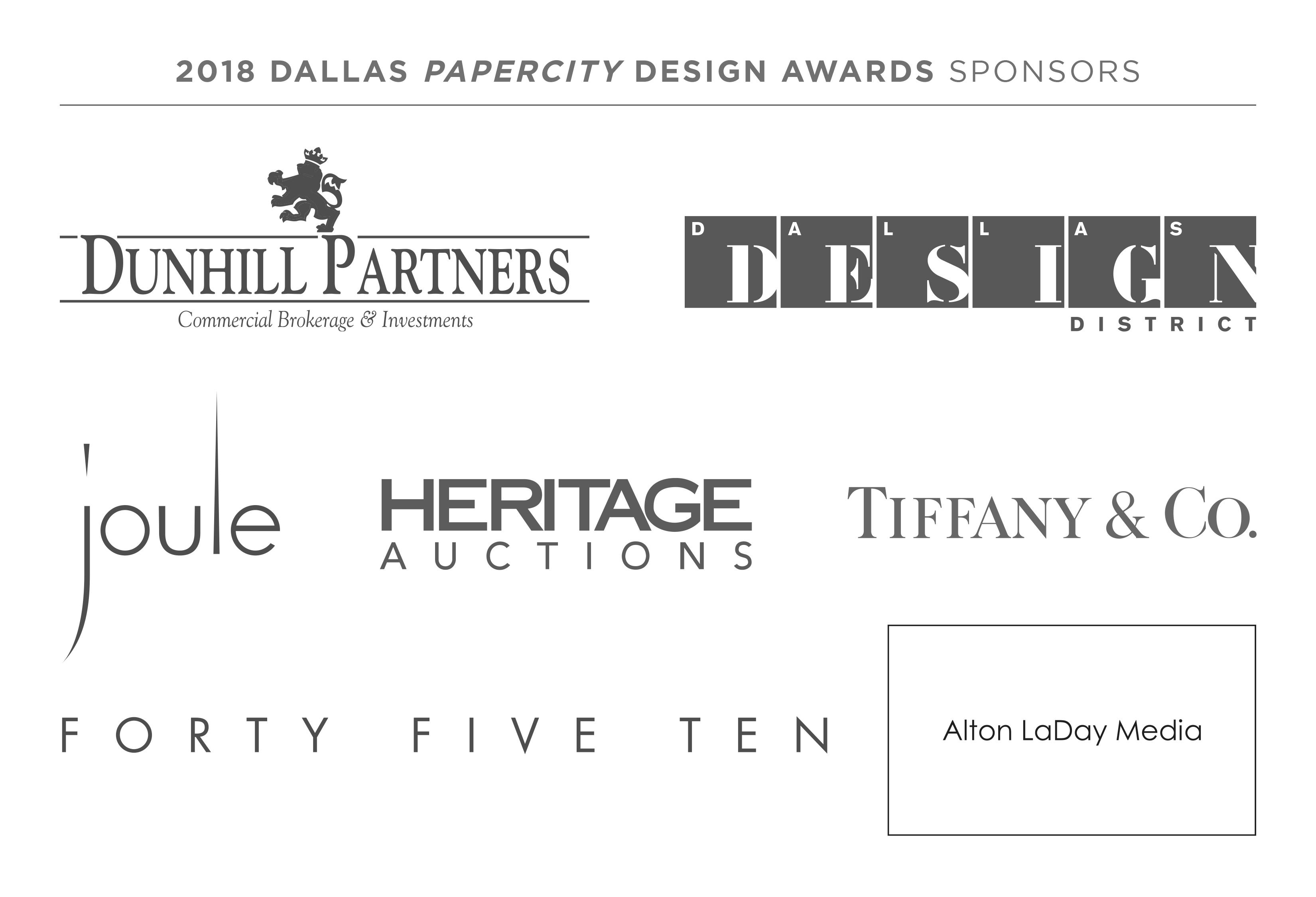 2018 Dallas Design Awards Sponsors